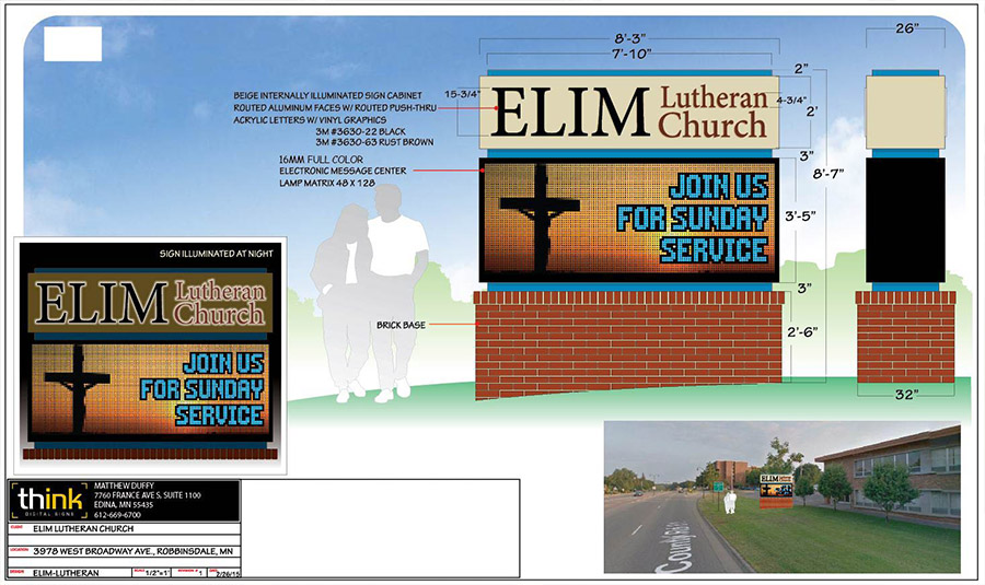 Digital Sign Mock Up For Churches