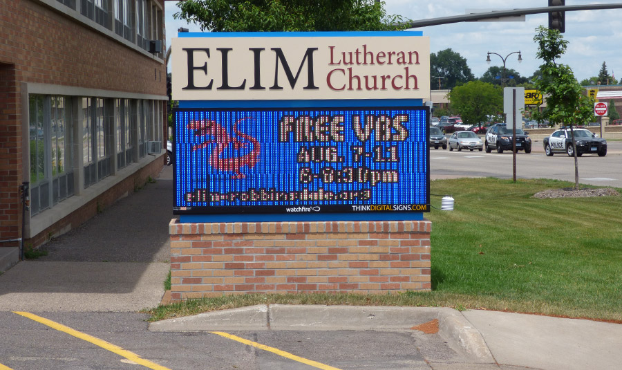 Outdoor Digital Display Board For Churches
