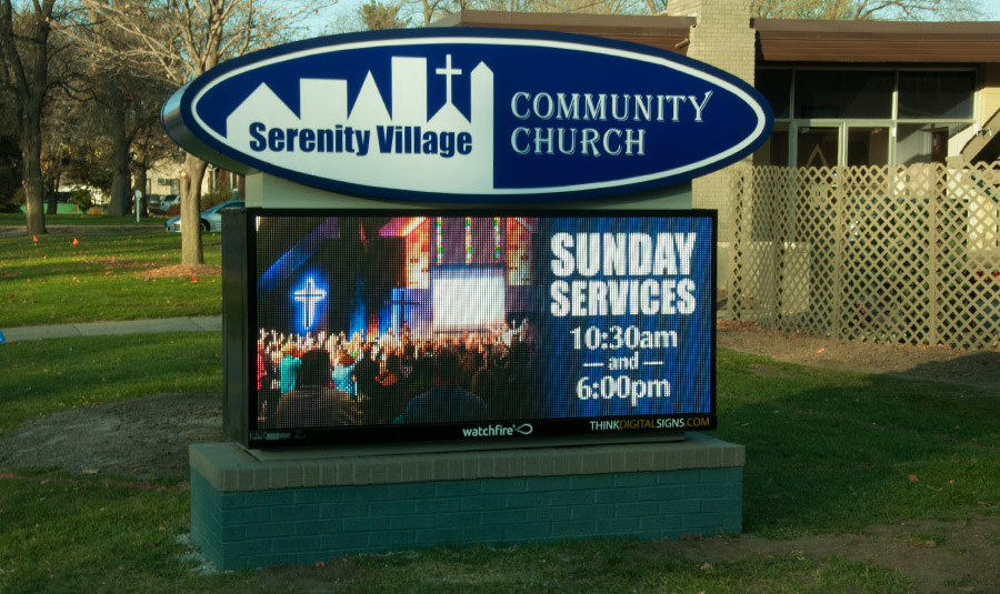 Outdoor LED Digital Church Signs