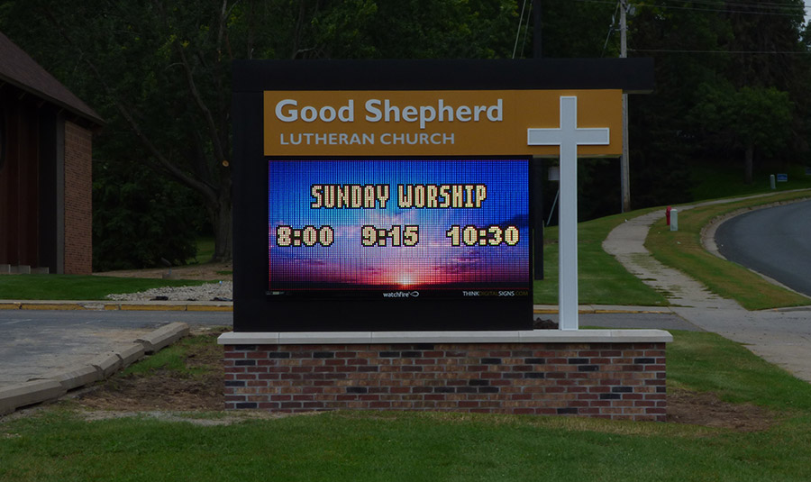 Monument LED Signage For Church
