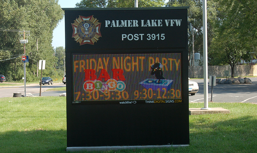 VFW/Legion Outdoor Message Center