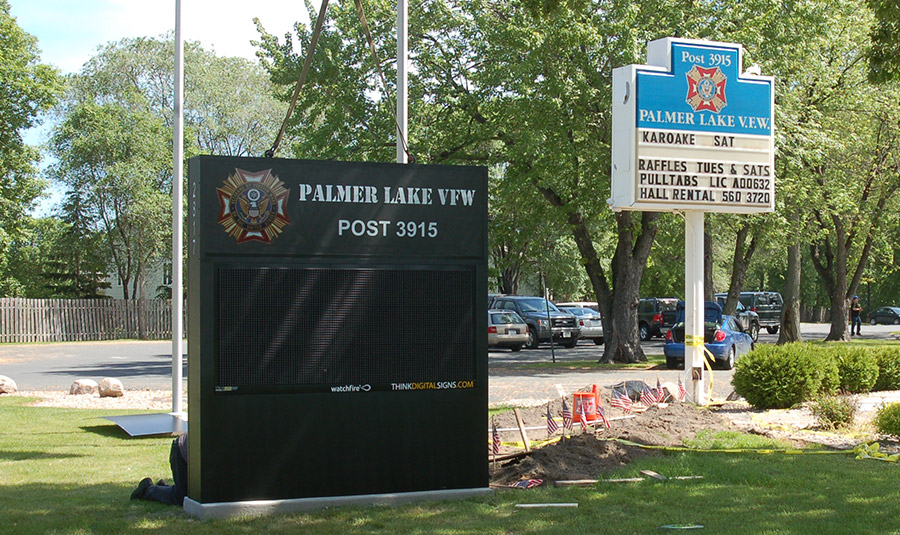 Outdoor Message Board For VFW