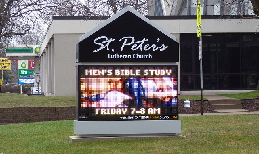 Outdoor Church LED Sign