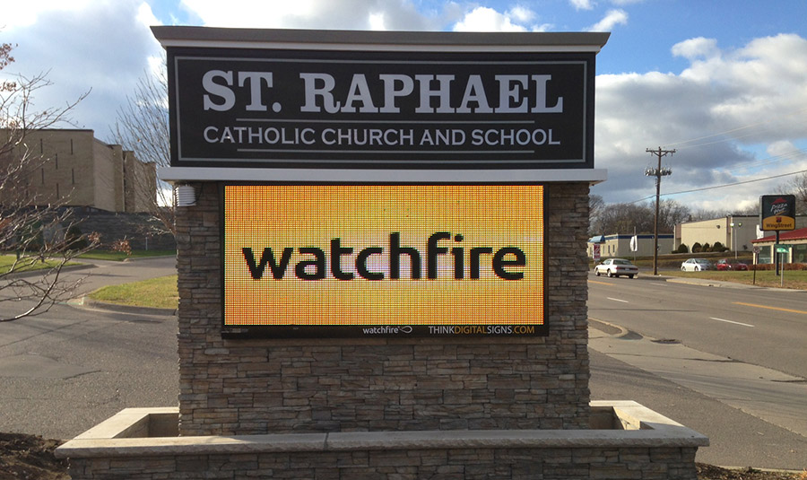 Outside LED Signage For Schools