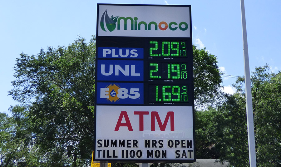 Gas Price Display Board