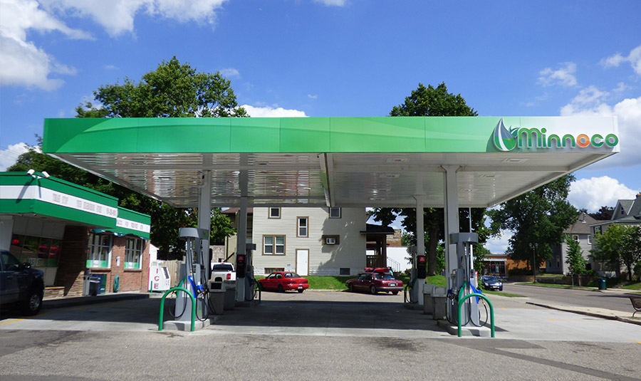 Outdoor Signage For Gas Station