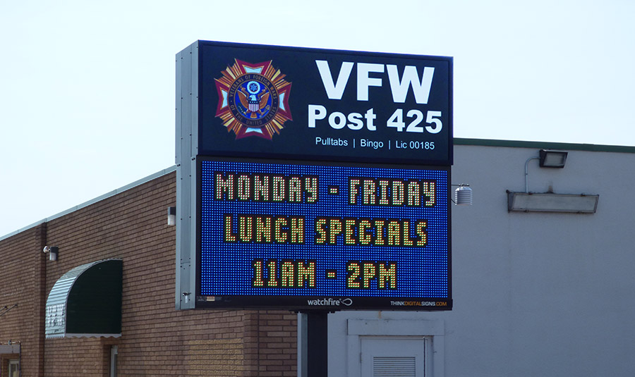 Outdoor VFW/Legion Display Board