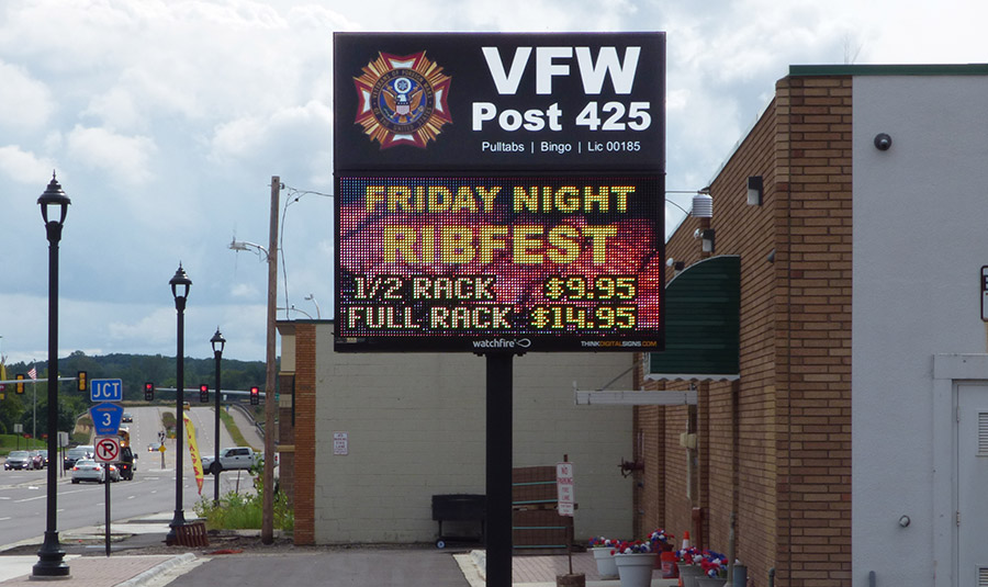 Legion/VFW Digital Sign