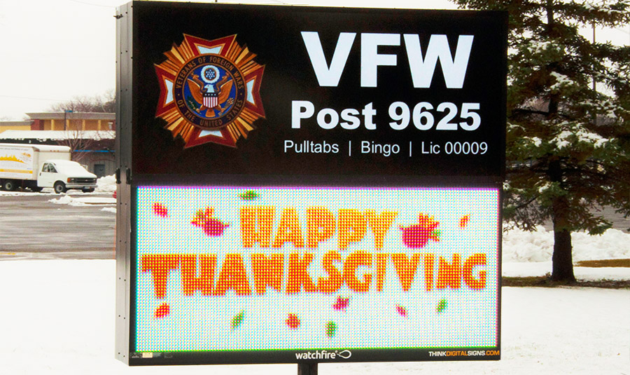 Outdoor LED VFW Signage