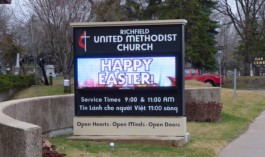 Outside Digital Church Signage