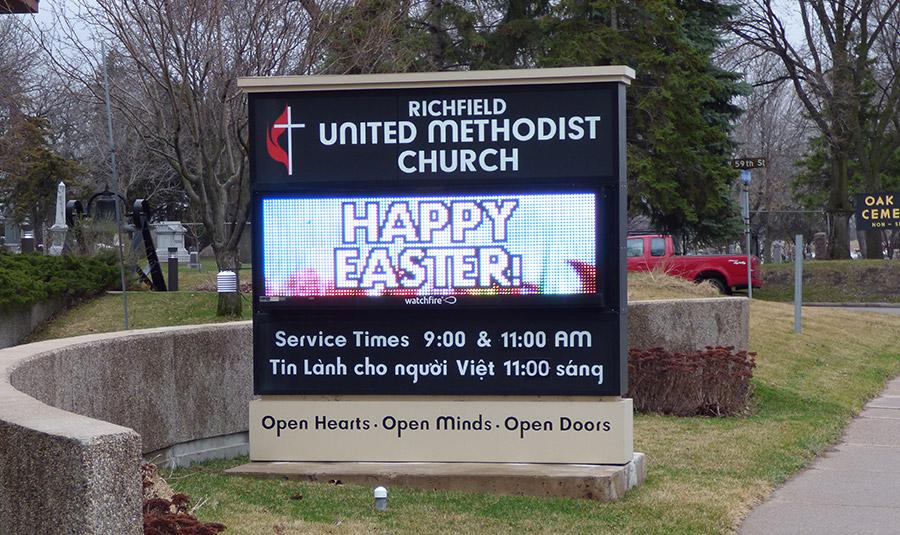 Outside Digital Church Signage