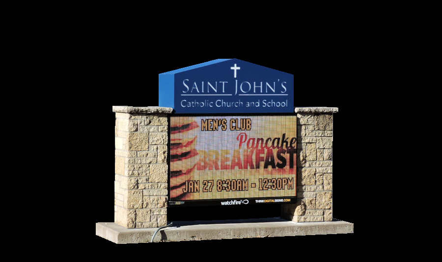 St Johns church Little Canada Monument Sign Digital Dynamic Display