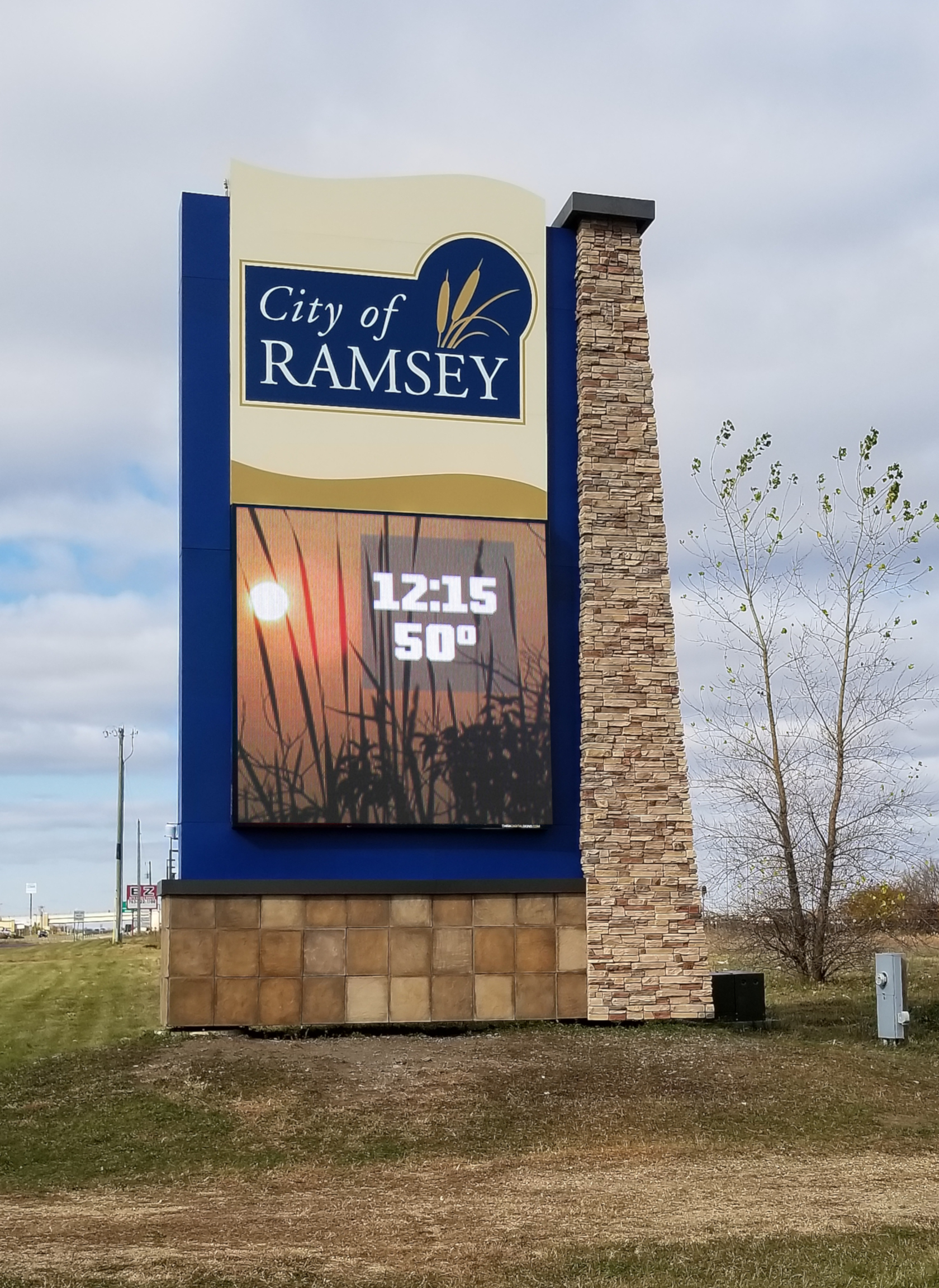 City of Ramsey Digital Sign After Renovation