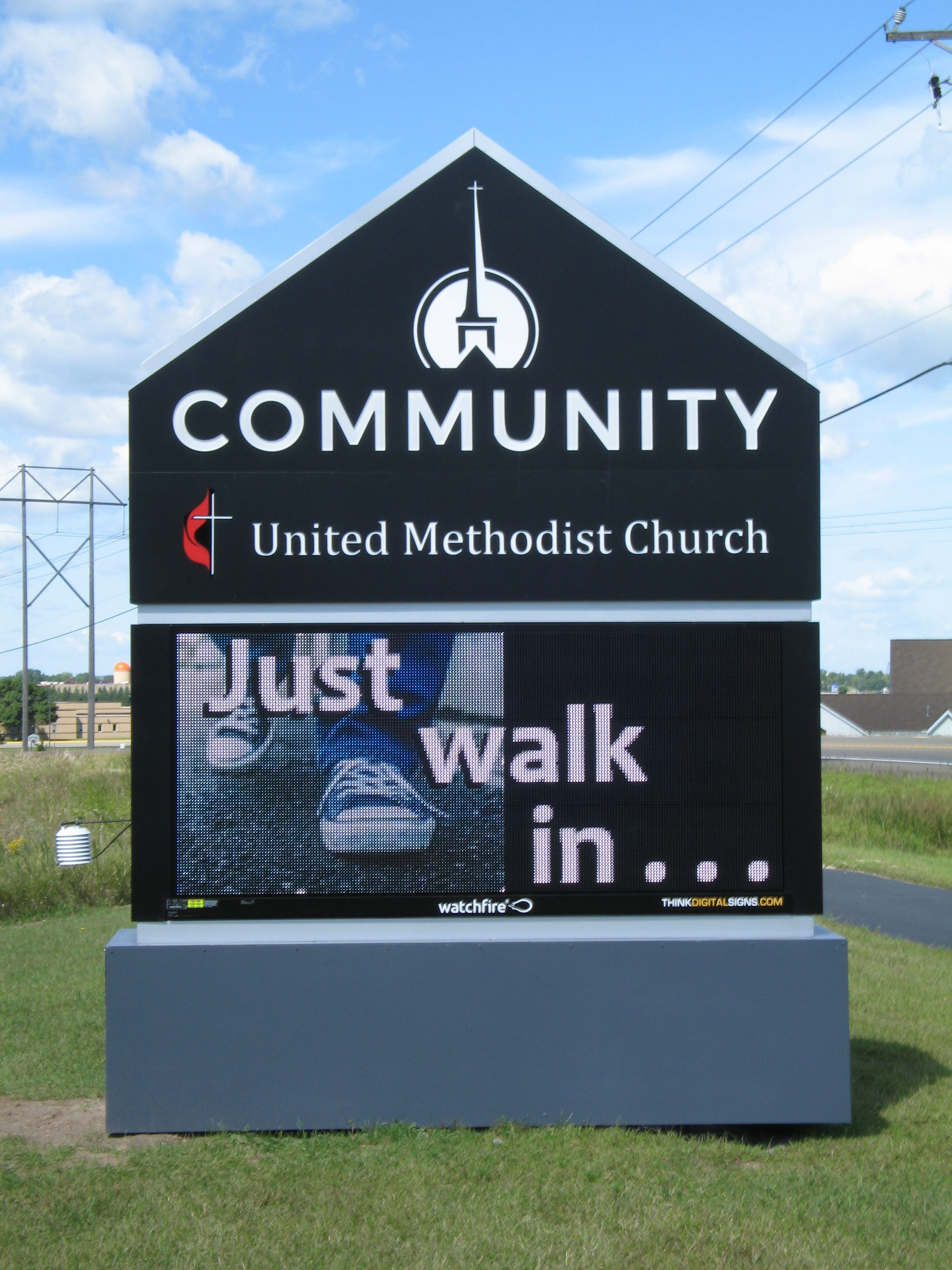 Cummunity United Methodist Church Monticello Electronic Message Center Sign