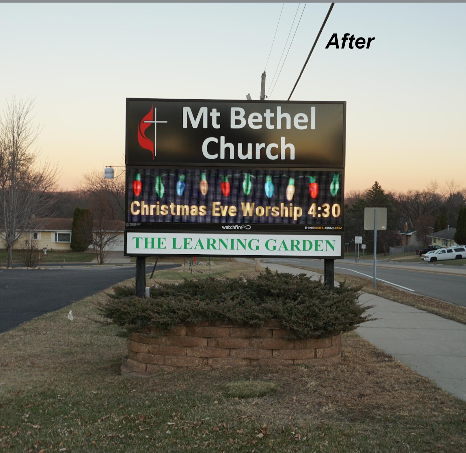 Mount Bethel Dynamic Display (After)