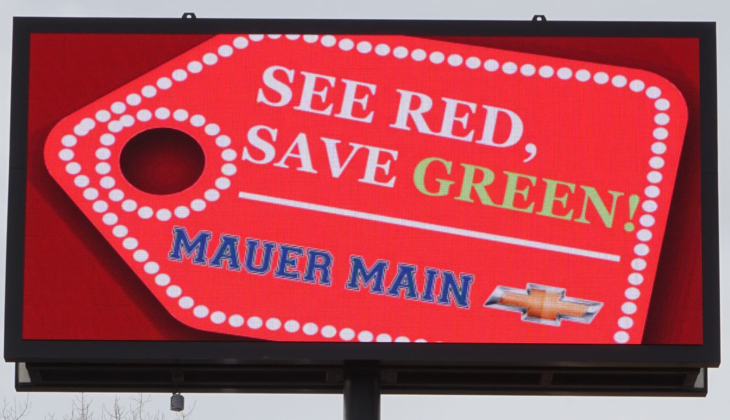 Mauer Main Chevrolet - Anoka - Digital Sign