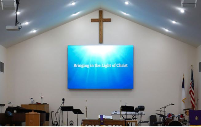 Indoor Video Wall for Places of Worship